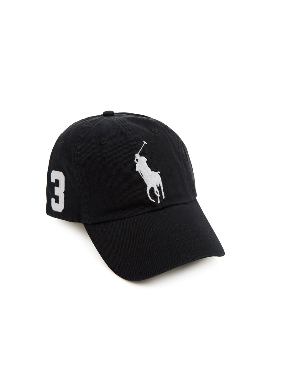 Polo Ralph Lauren Black Chino Baseball Cap