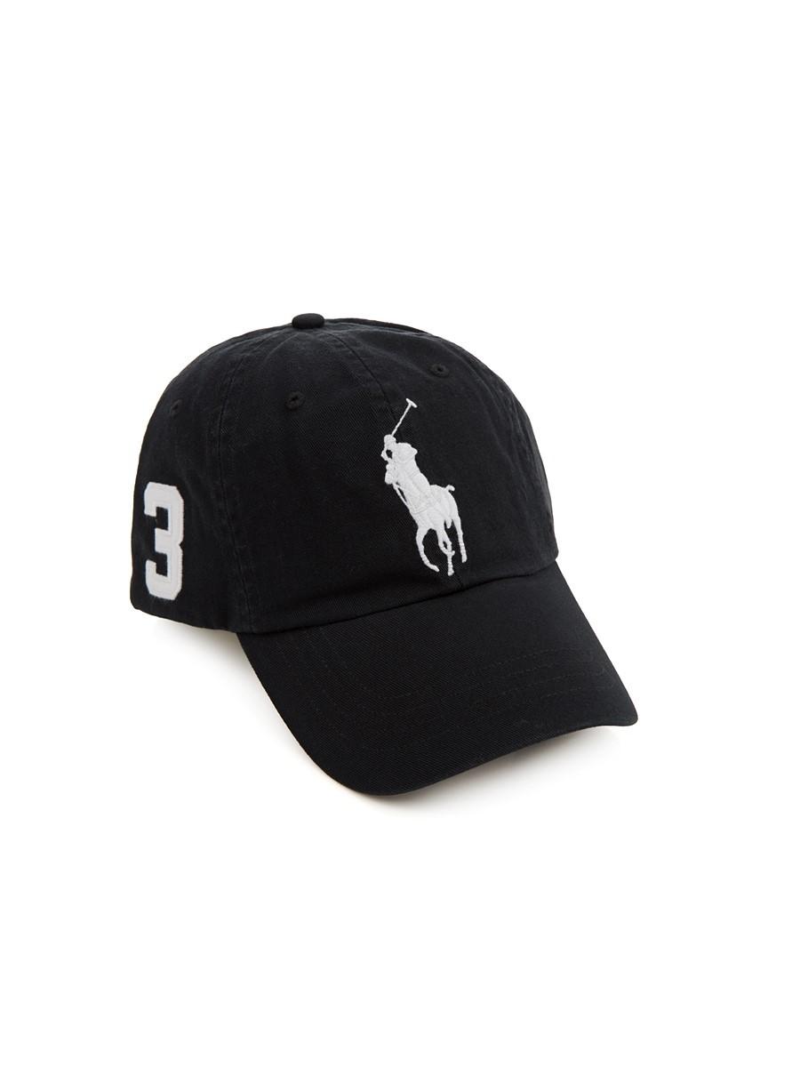 Polo Ralph Lauren Black Chino Baseball Cap