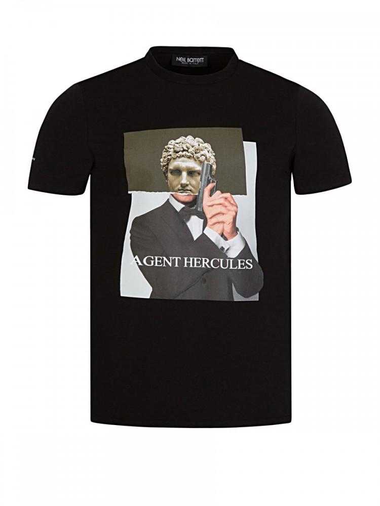 Neil Barrett Black 'Agent Hercules' T-Shirt