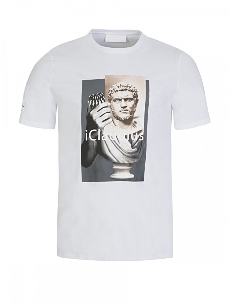 Neil Barrett White 'iClaudius' T-Shirt