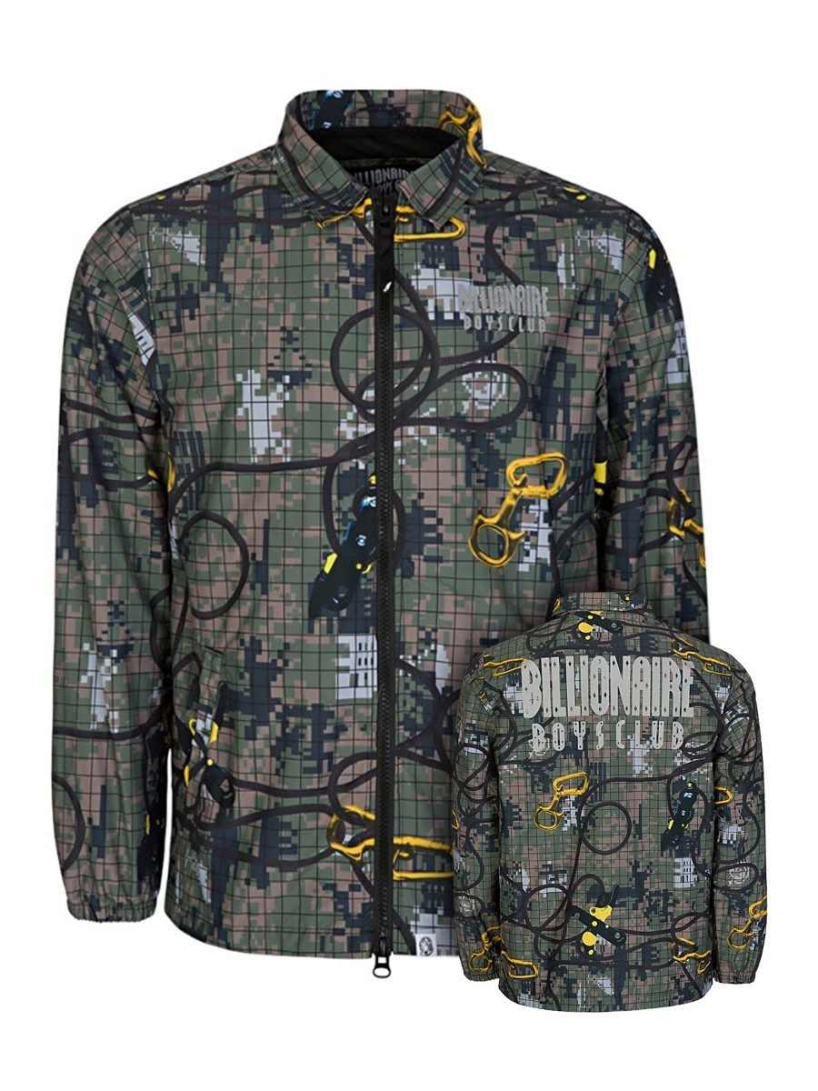 Billionaire Boys Club Green Climbing Camo Zip Jacket