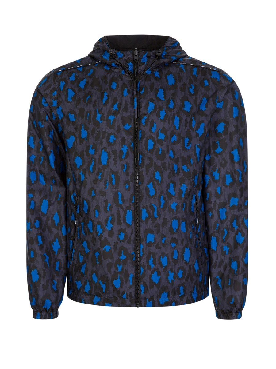 Kenzo Black Leopard Reversible Windbreaker Jacket