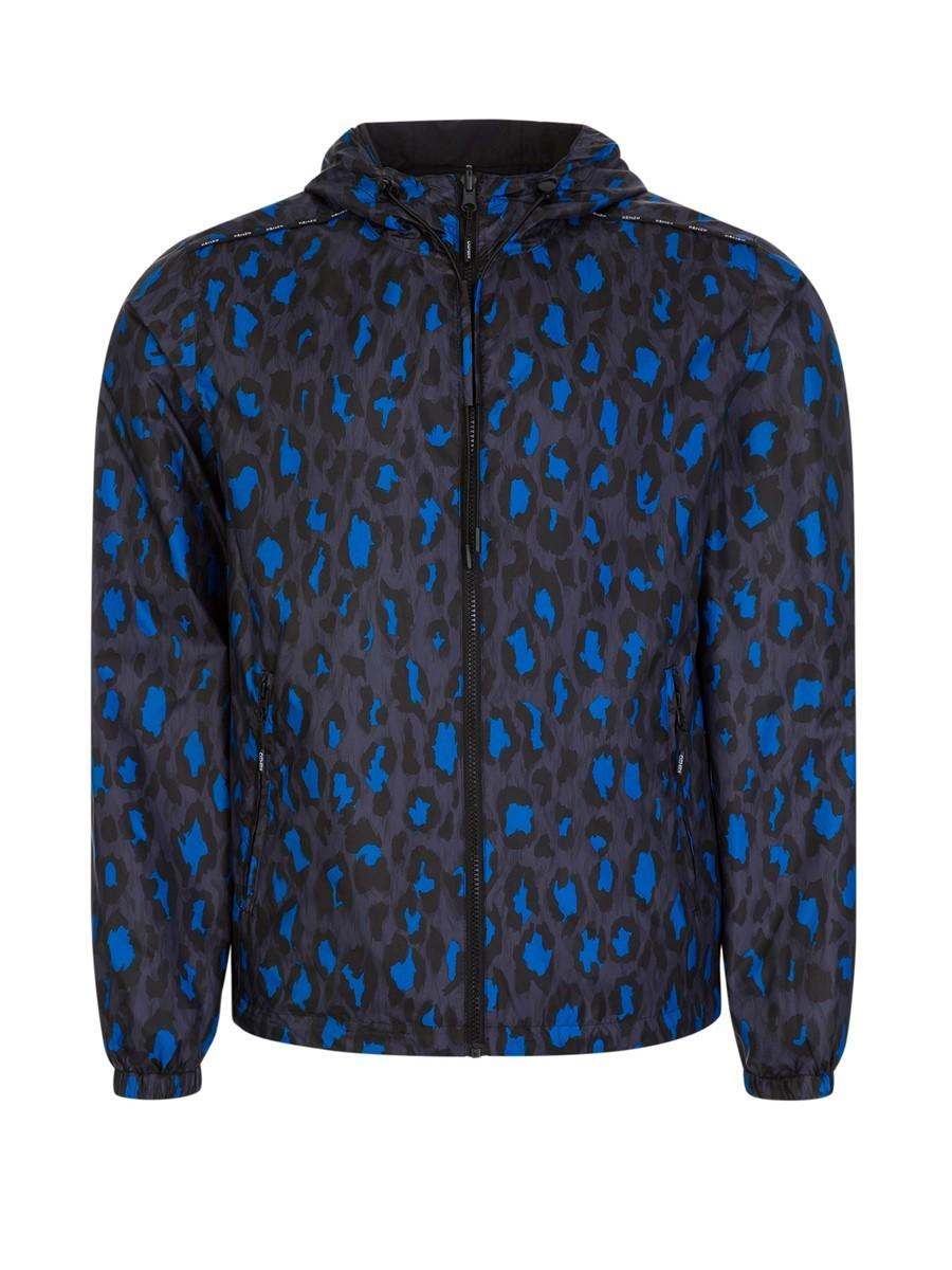 Kenzo Black Leopard Reversible Windbreaker Jacket