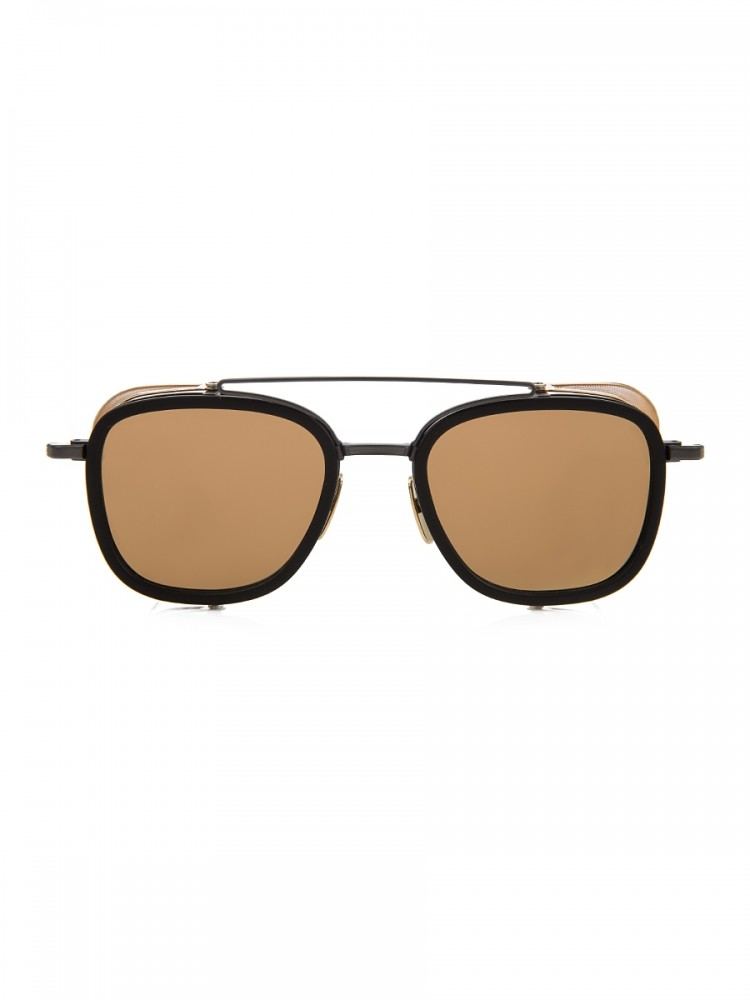 Thom Browne Black/Gold Side-Mesh Sunglasses
