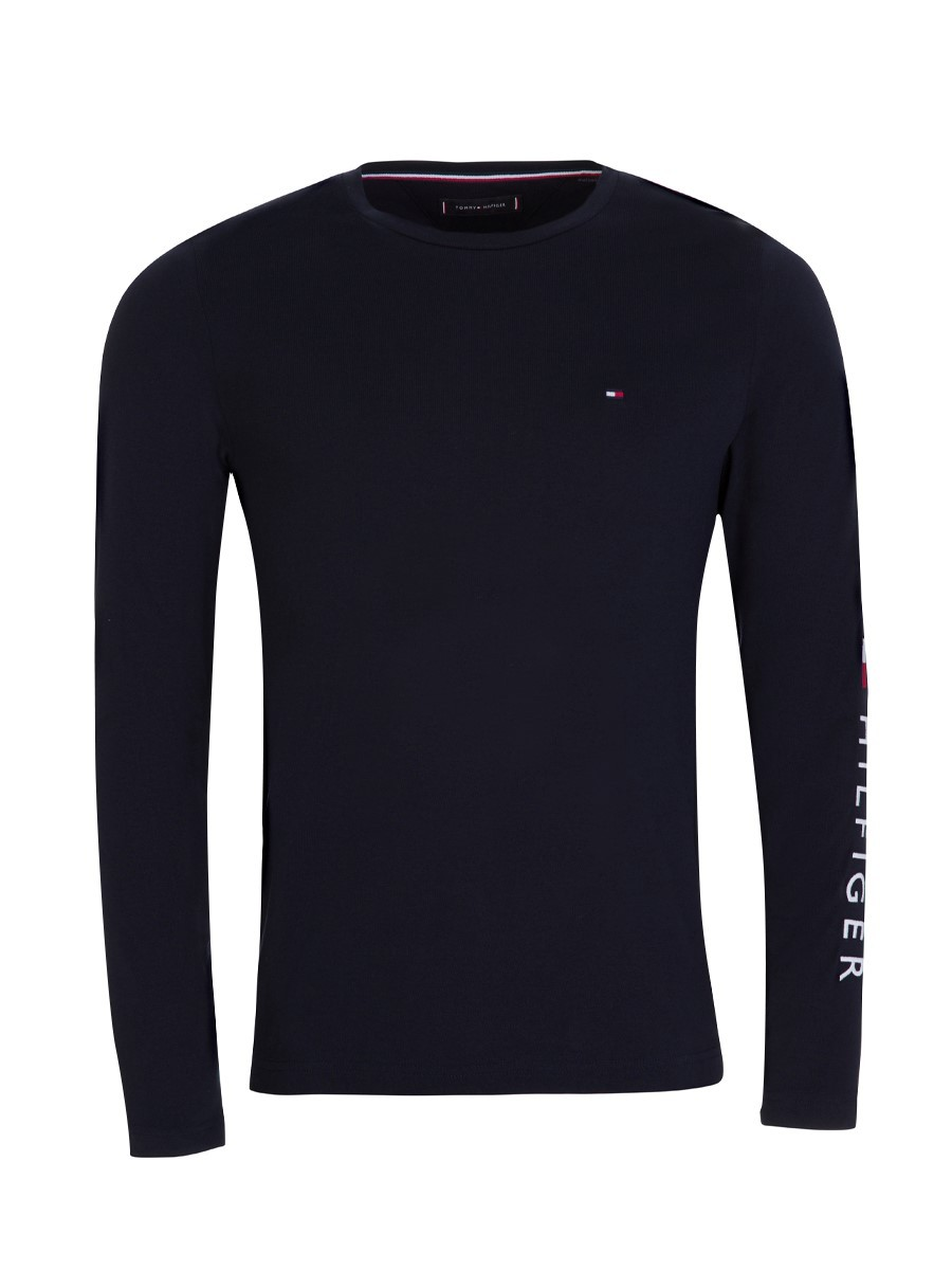 Tommy Hilfiger Navy Long-Sleeve Cotton T-Shirt
