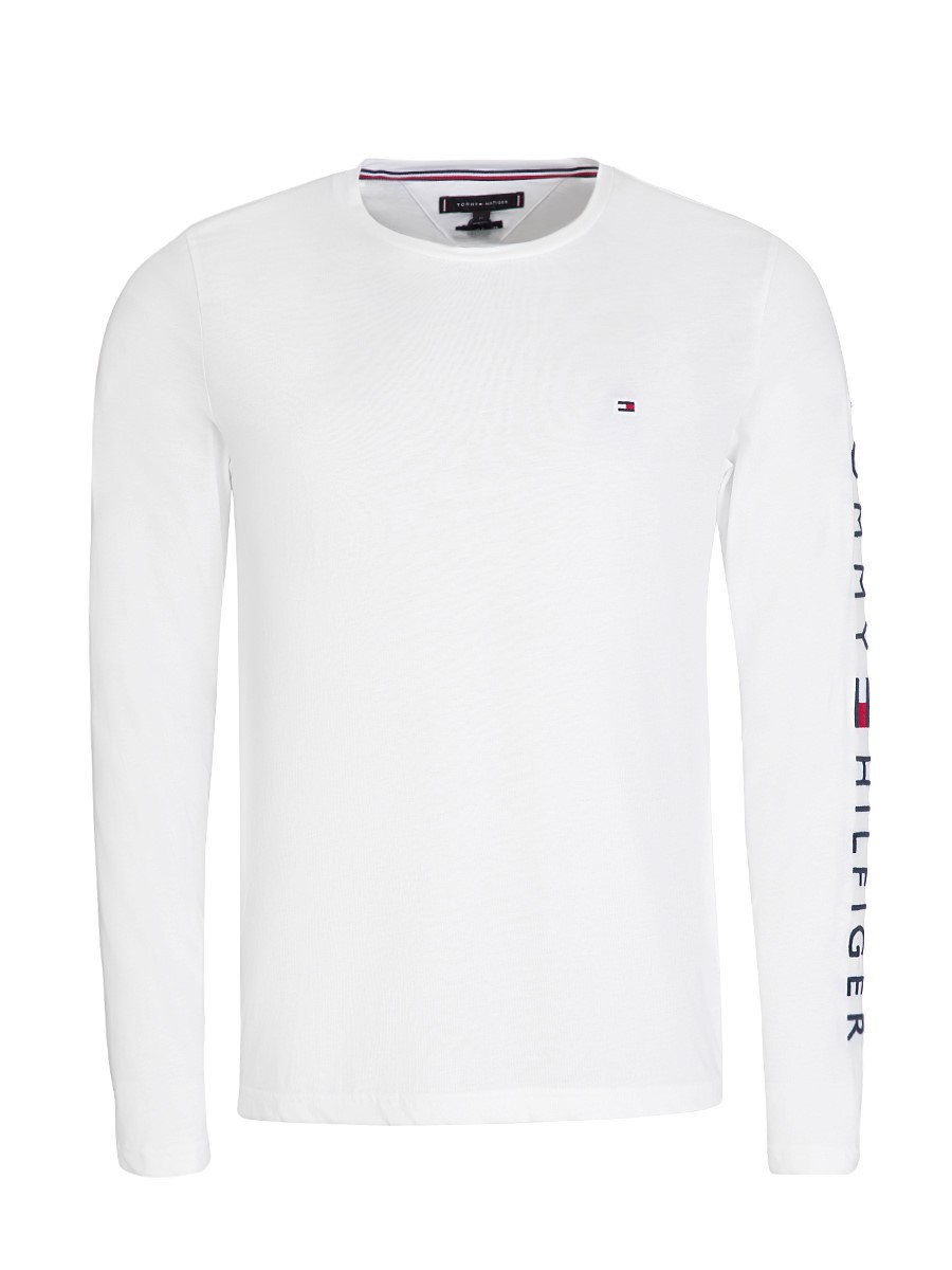 Tommy Hilfiger White Long-Sleeve Cotton T-Shirt