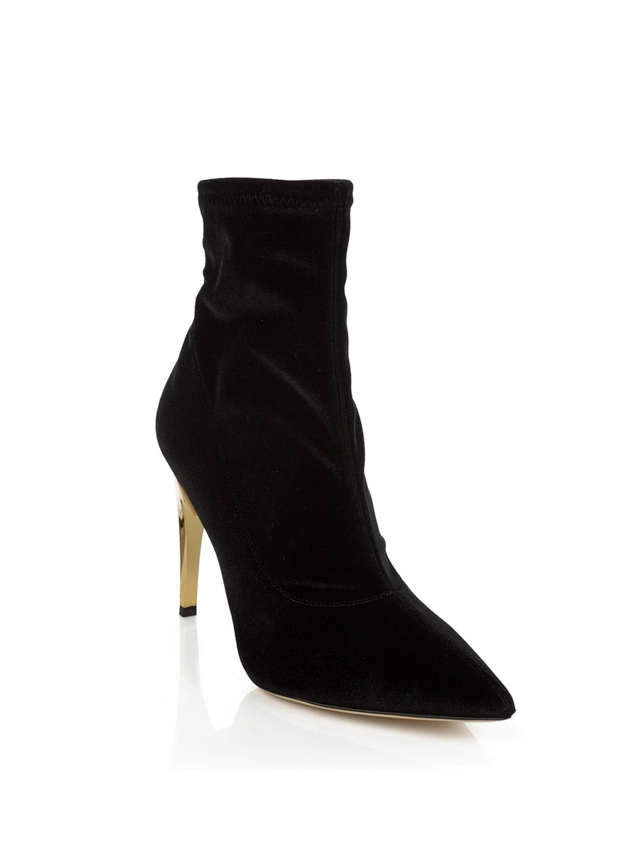 Giuseppe Zanotti Stretch Black and Gold Boot