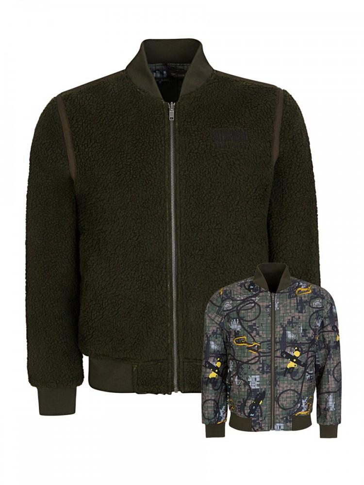 Billionaire Boys Club Green Reversible Bomber Jacket