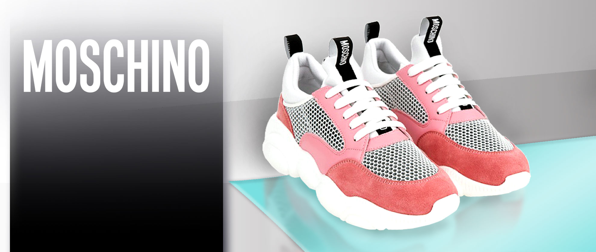 Staff Pick: Moschino Pink And White Teddy Run Trainers