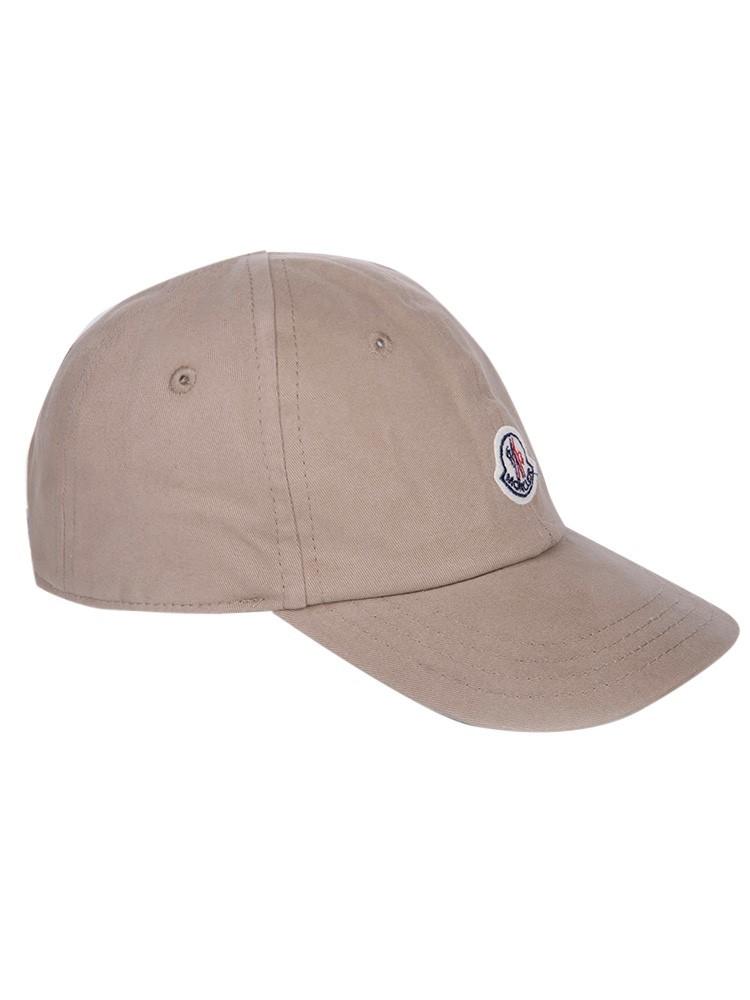 Moncler Kids Beige Logo Cap