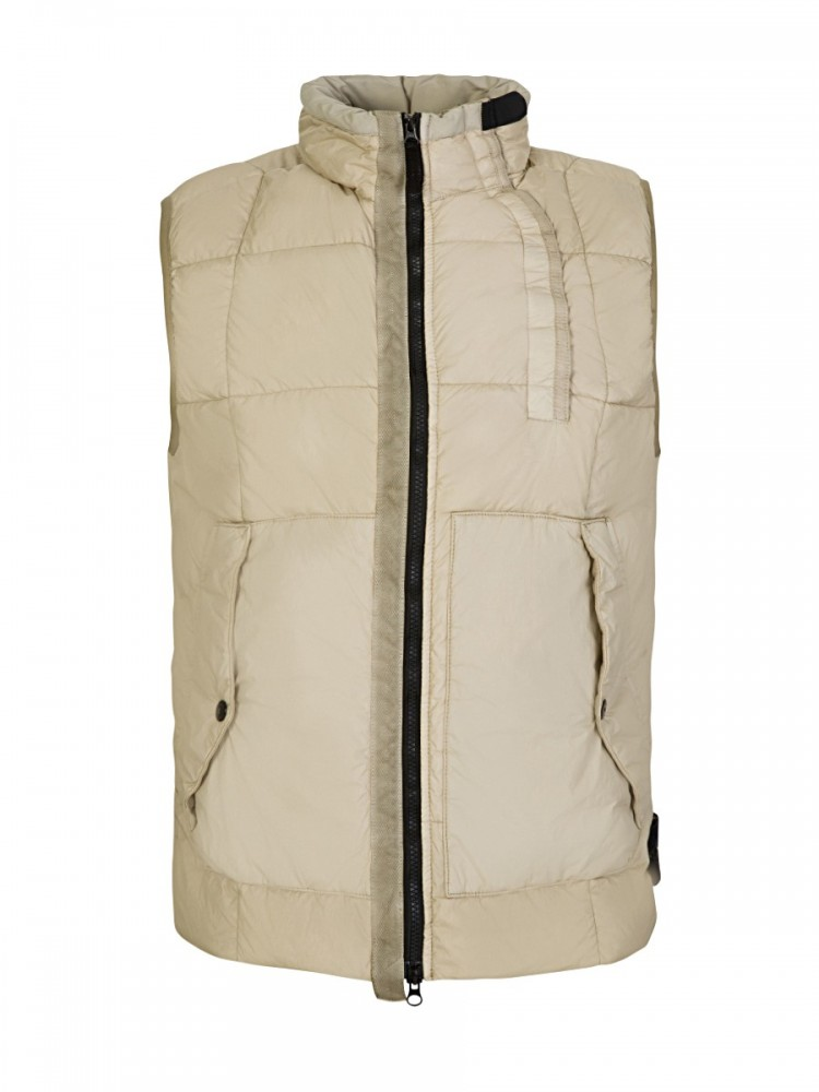 Stone Island Beige Crinkle Reps NY Down Gilet