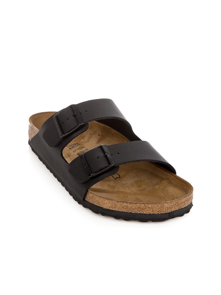 Birkenstock Black Arizona Birko-Flor Sandals