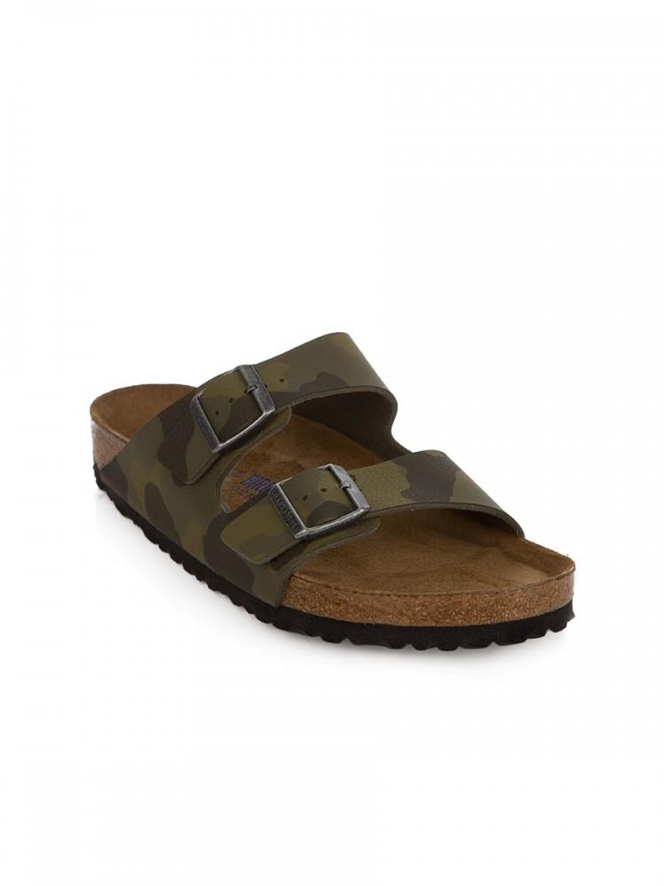 Birkenstock Green Arizona Birko-Flor Sandals