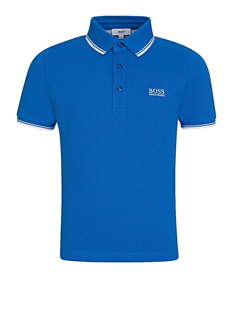 BOSS Kidswear Cobalt Blue Logo Polo Shirt