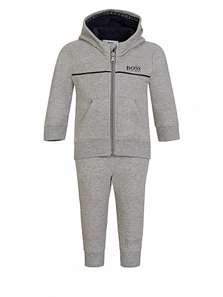 BOSS Kidswear Grey Logo Sweatpants