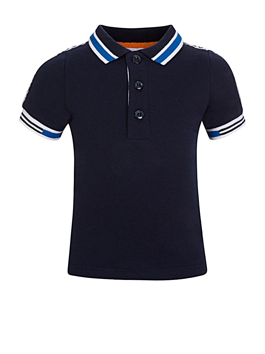 BOSS Kidswear Navy Logo Detail Polo Shirt