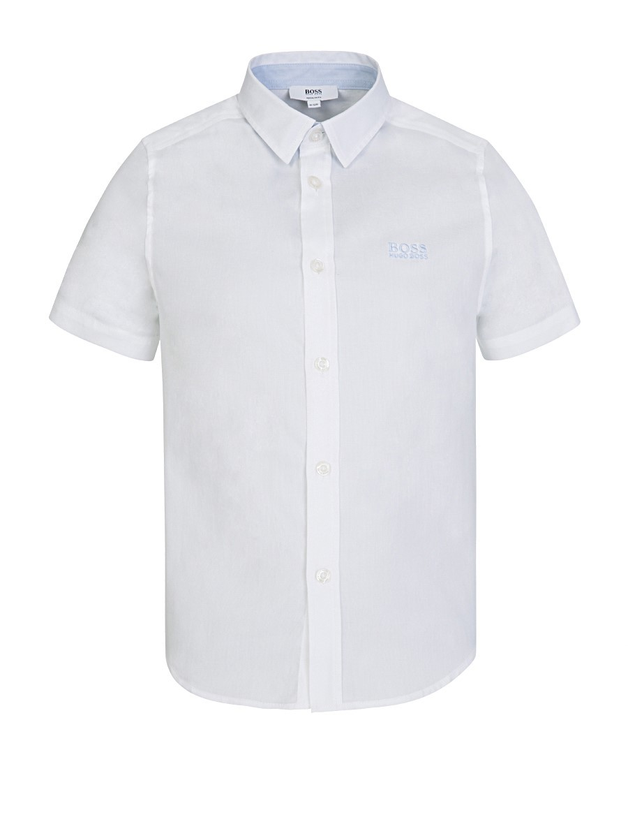 BOSS Kidswear White Short Sleeve Shirt