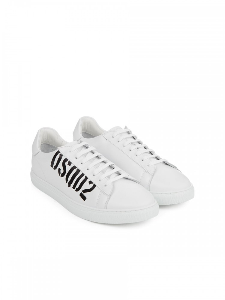 Dsquared2 White New Tennis Trainers