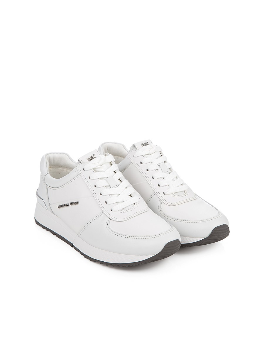 Michael Kors White Allie Leather Sneakers