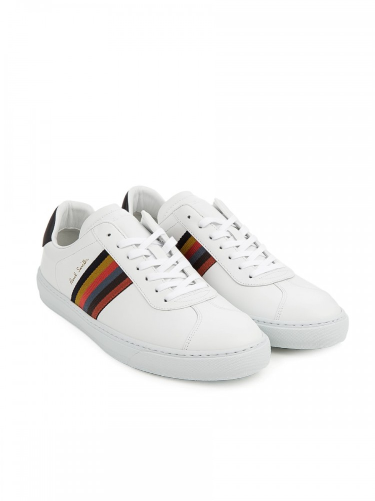 Paul Smith White Leather Levon Trainers