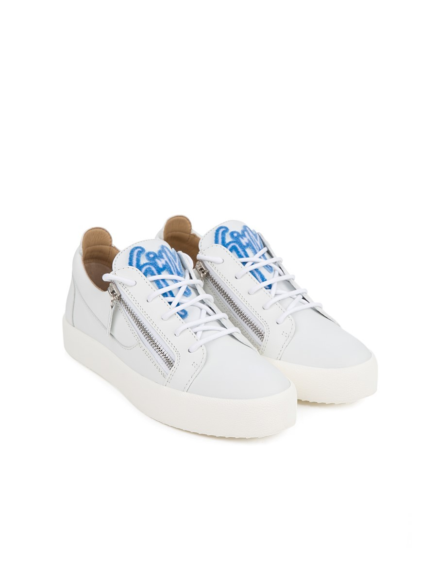 Giuseppe Zanotti White Leather Low-Top Trainer
