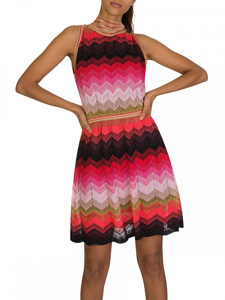 M Missoni Multi-Coloured Stripe Dress