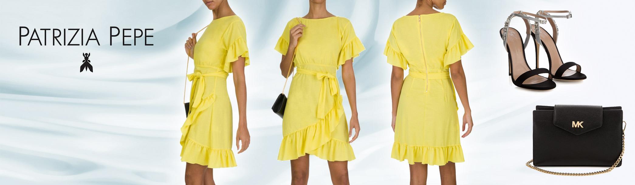 Staff Pick: Patrizia Pepe Yellow Frill Dress