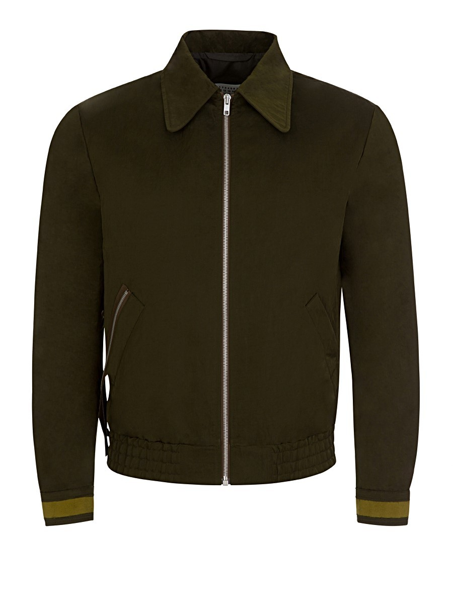 Maison Margiela Olive Nylon Sports Jacket
