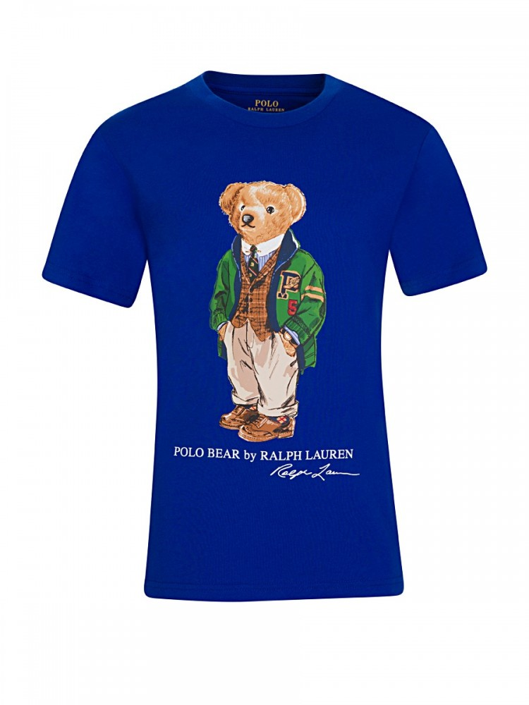 Polo Ralph Lauren Blue Polo Bear Cotton T-Shirt