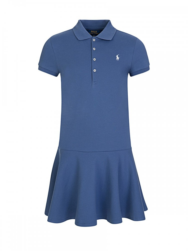 Polo Ralph Lauren Kids Blue Polo Shirt Dress
