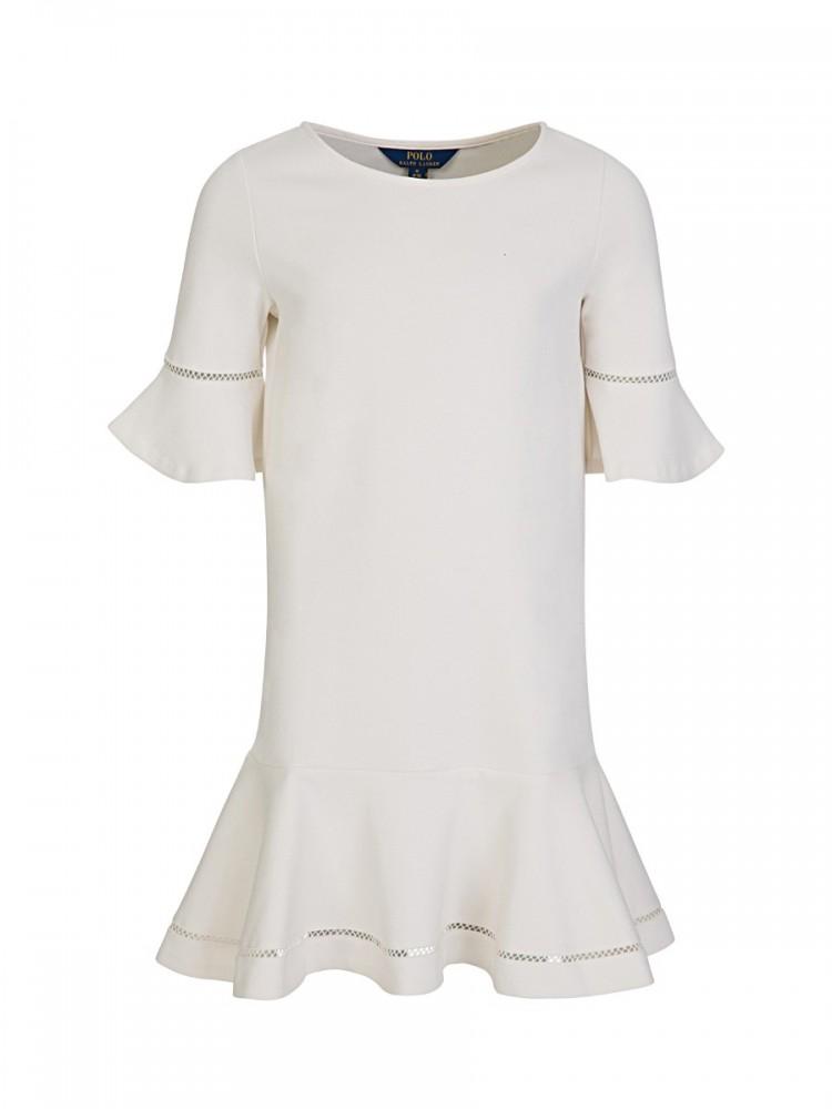 Polo Ralph Lauren Kids Cream Inset-Lace Dress