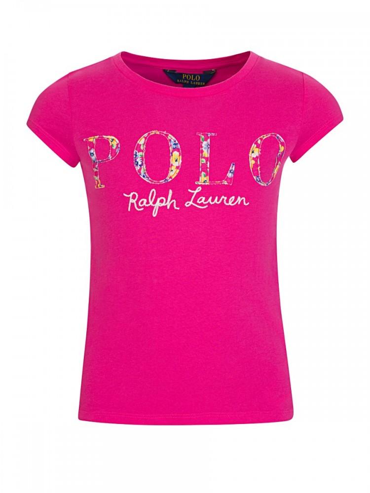 Polo Ralph Lauren Pink Flower Logo T-Shirt