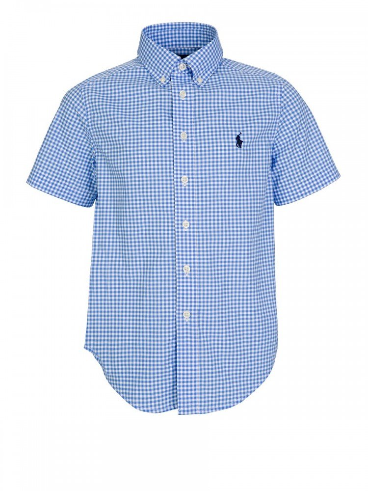 Polo Ralph Lauren White/Blue Cotton Poplin Sport Shirt