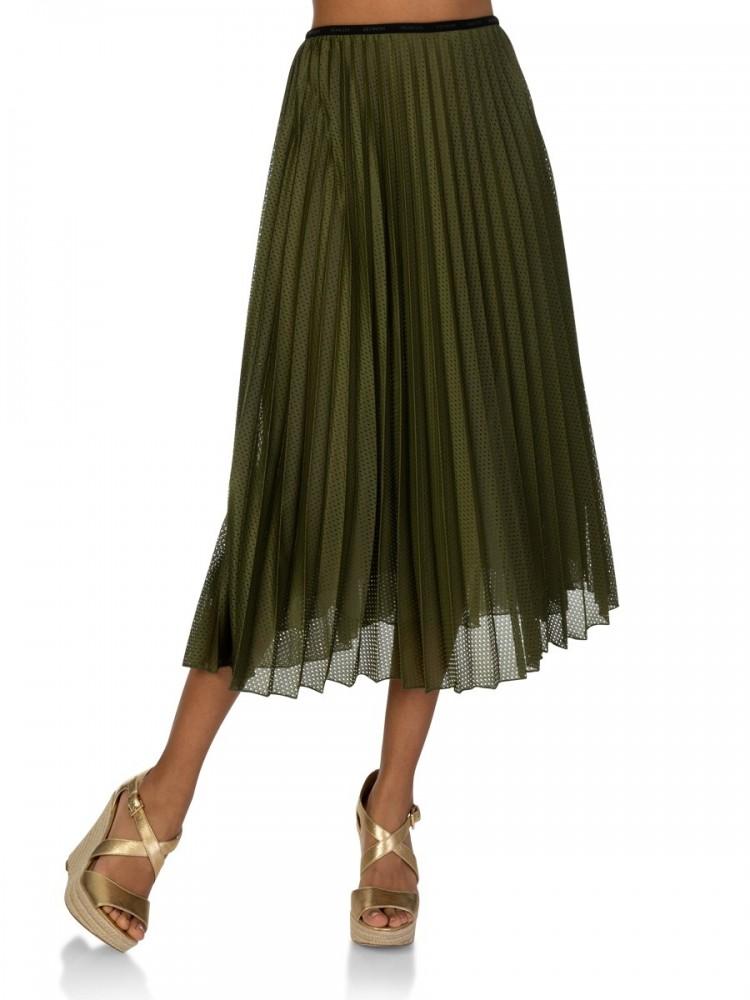 Moncler Green Pleated Skirt