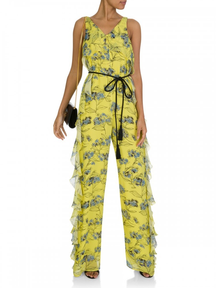 Patrizia Pepe Yellow Flowers Jumpsuit