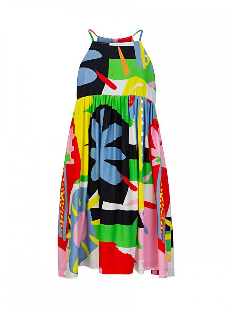 Stella McCartney Multi Print Palm Dress