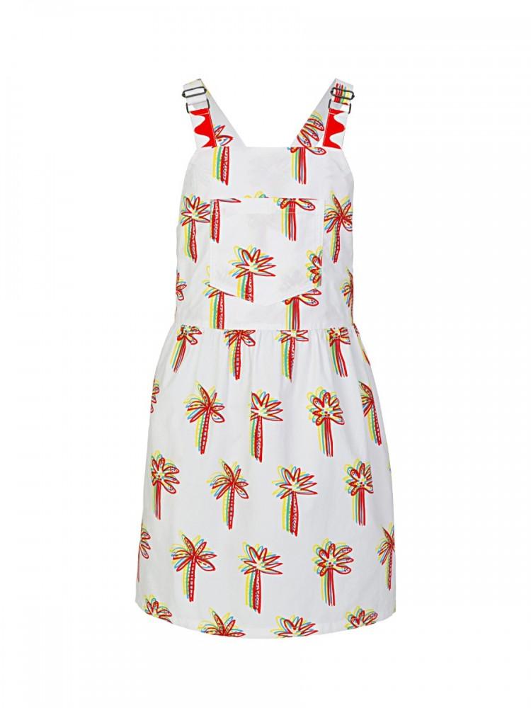 Stella McCartney White Graphic Palms Dress