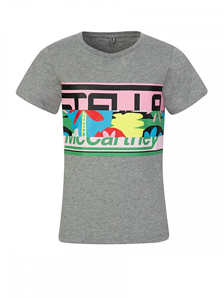 Stella McCartney Grey Stella Logo T-Shirt