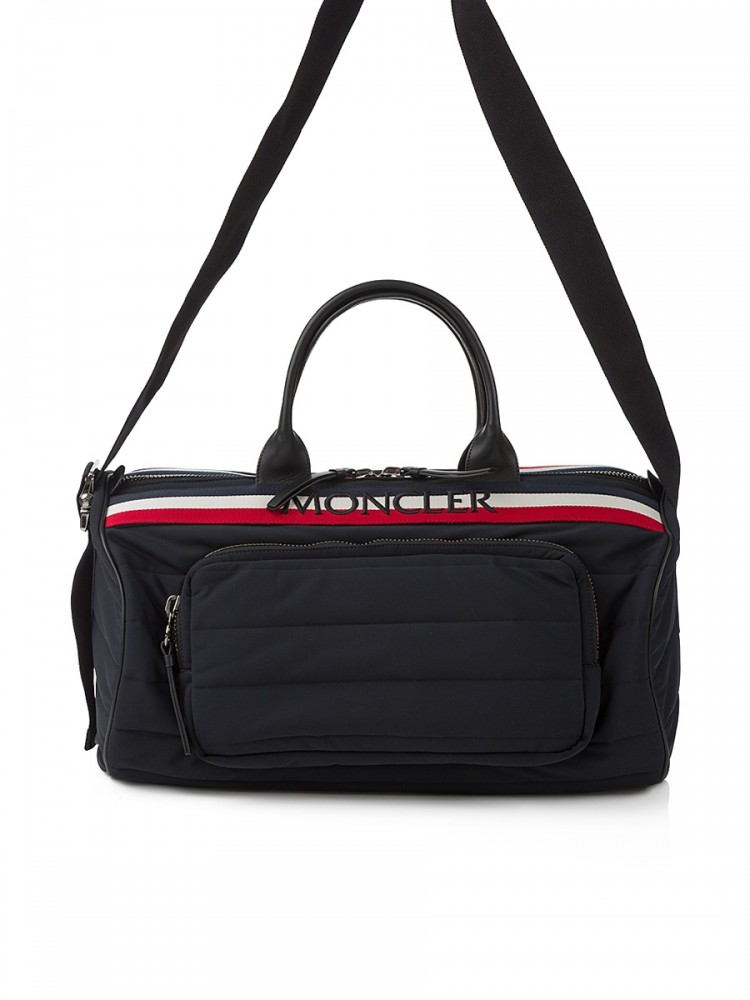 Moncler black Log Holdall Bag