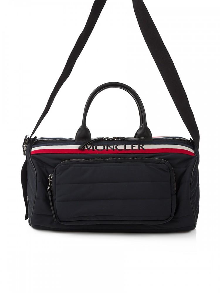 Moncler black Log Holdall Bag