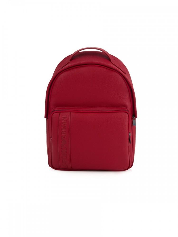 Emporio Armani Red Logo Rucksack Bag