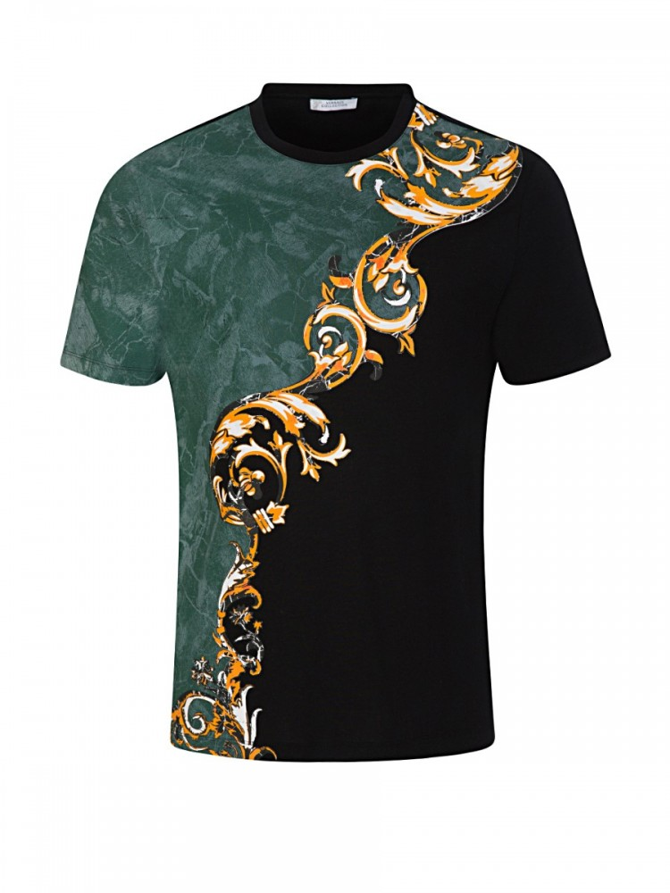Versace Collection Black Split Baroque T-Shirt