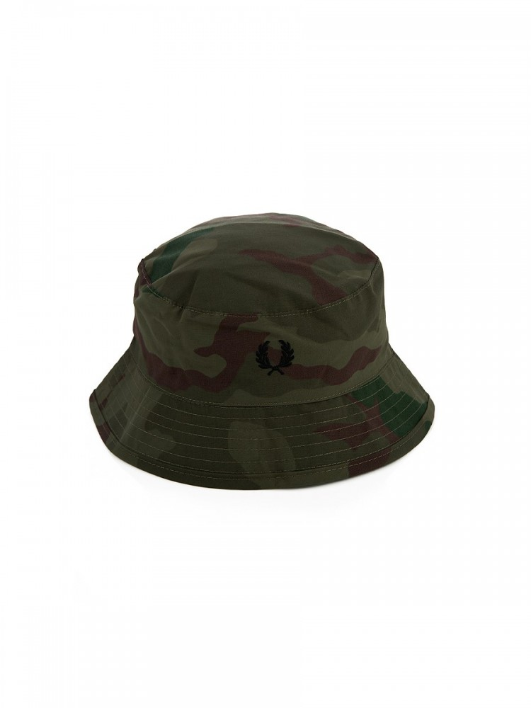 Fred Perry x Arktis Olive Camouflage Bucket Hat