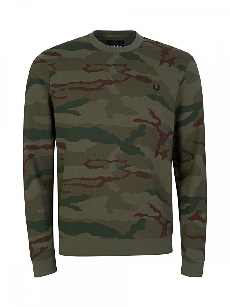 Fred Perry x Arktis Olive Camouflage Sweatshirt