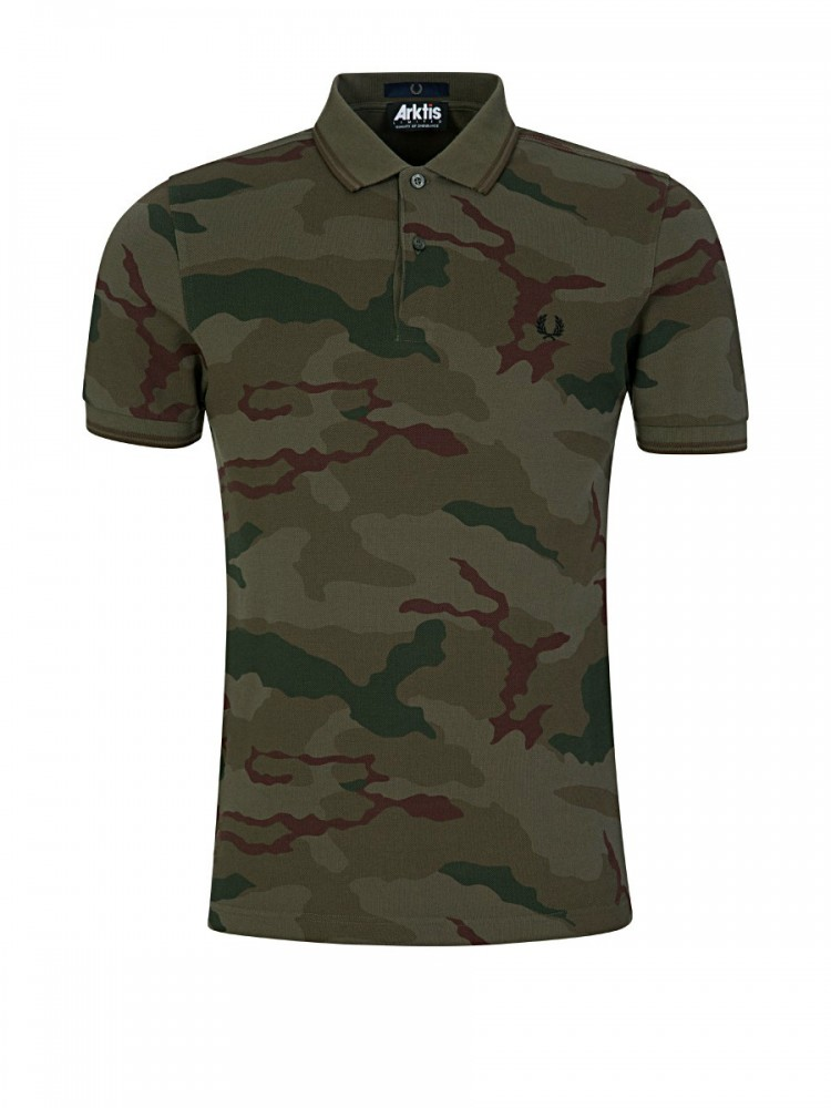 Fred Perry x Arktis Olive Camouflage Pique Shirt