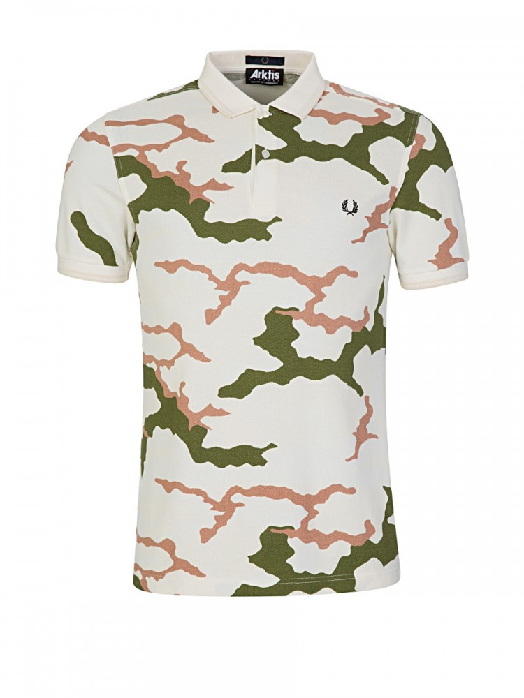 Fred Perry x Arktis Tundra Camouflage Pique Shirt