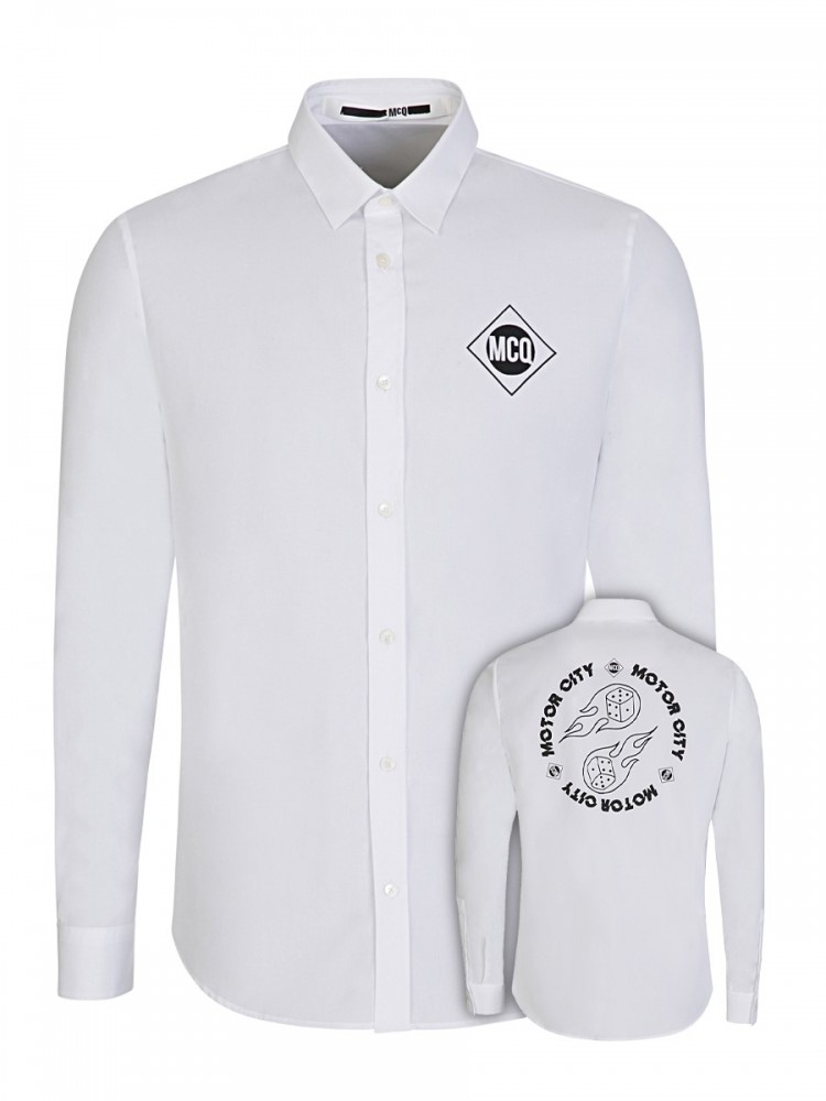 McQ by Alexander McQueen White Motor City Shirt