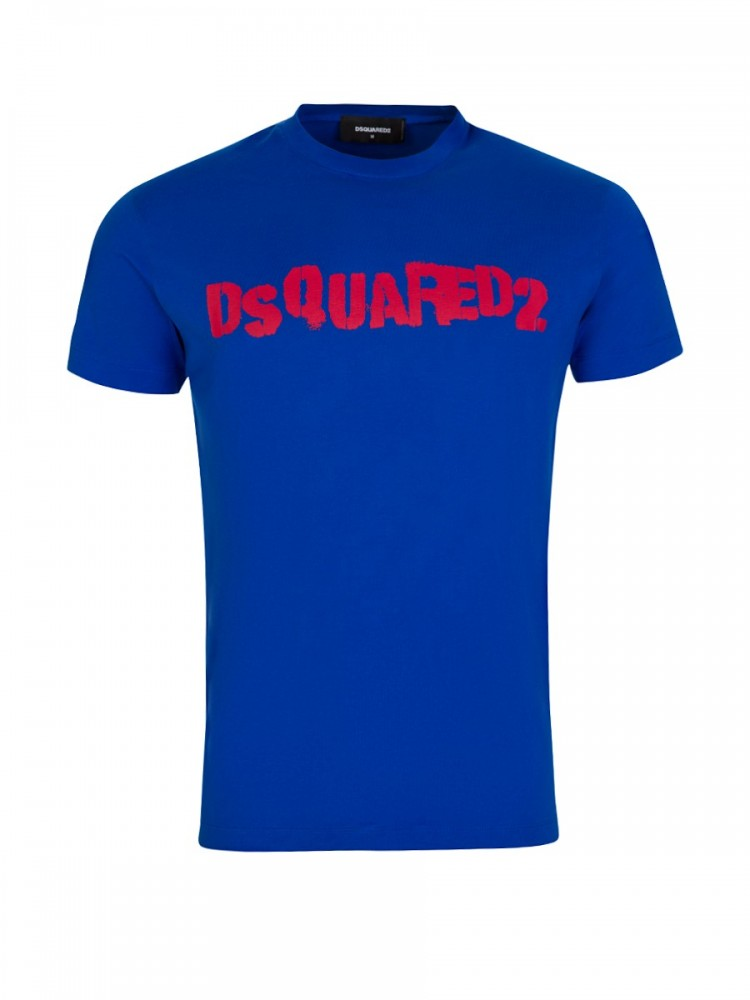 Dsquared2 Blue Chest Logo T-Shirt