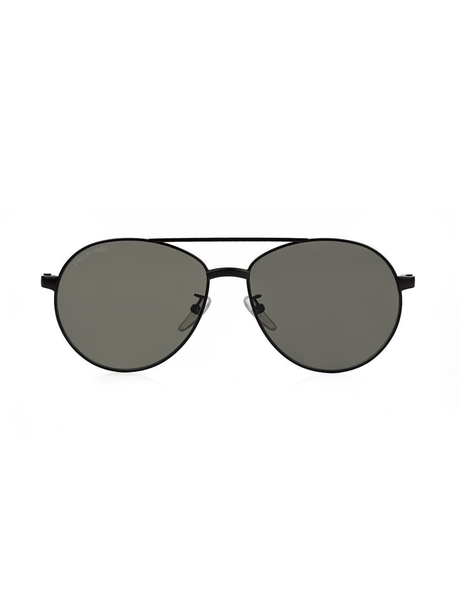 Balenciaga Black Vintage Aviator Sunglasses