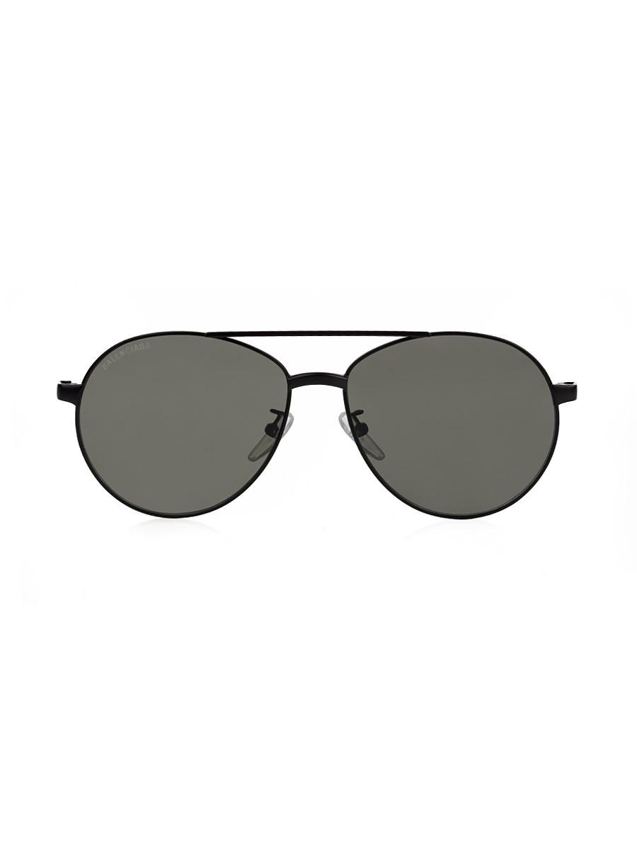 Balenciaga Black Vintage Aviator Sunglasses